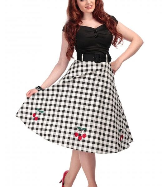 Cherry Vintage Swing szoknya-0