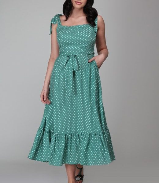 Katrina Polka Dot Swing ruha-0