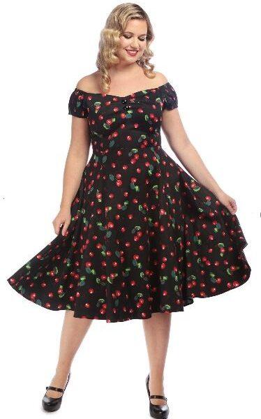 Dolores Doll 50's Cherry Print ruha-0