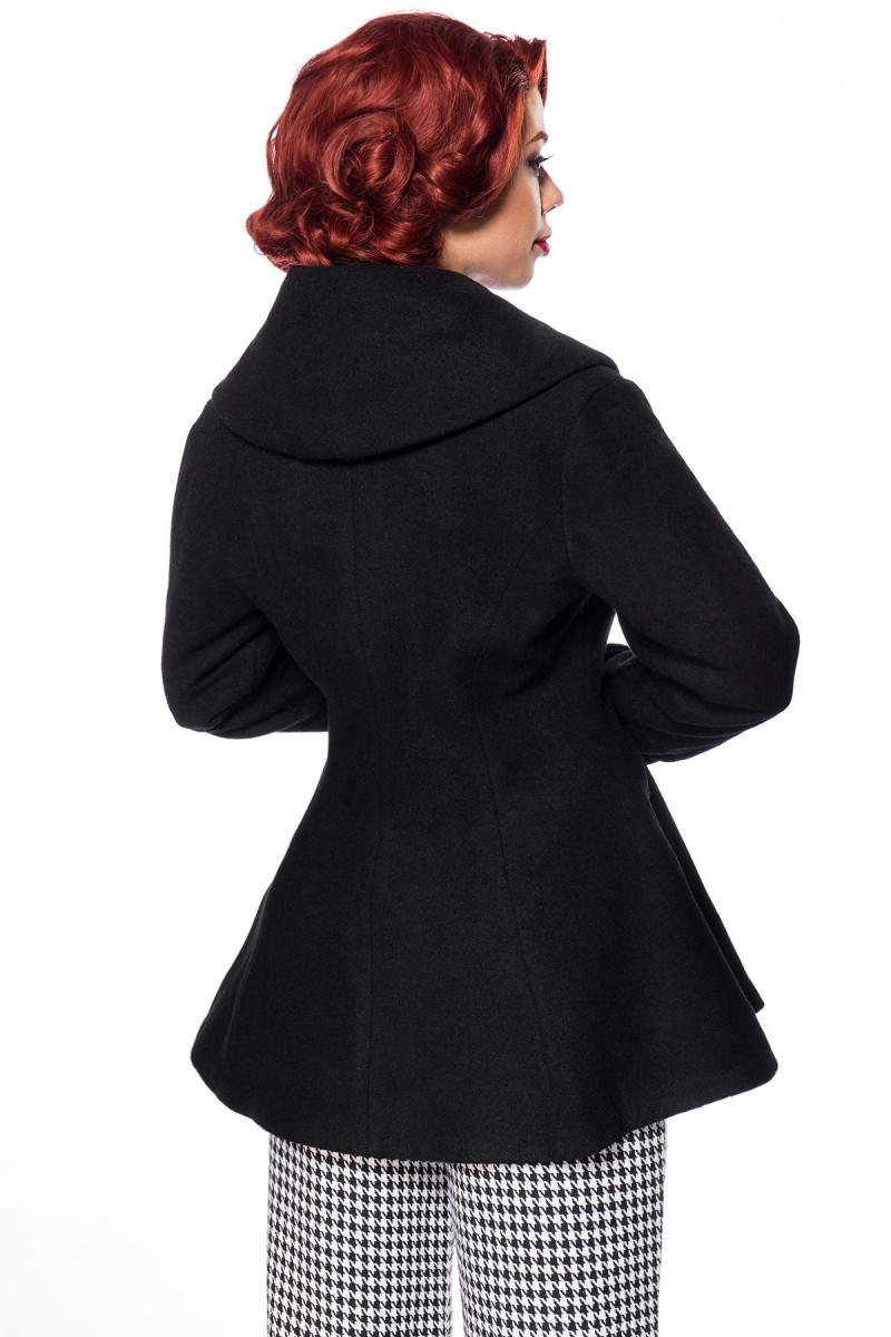 Fekete Belsira prémium kabát