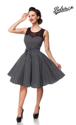Fekete-fehér pöttyös retro ruha