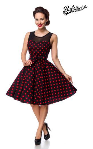 Fekete-piros pöttyös retro ruha