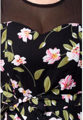 Virágos retro ruha a Belsirától S-4XL méretekben