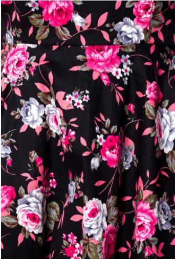 Virágos retro ruha a Belsirától S-4XLméretekben.