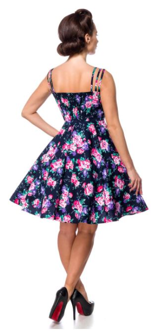 Virágos Retro ruha a Belsirától S-4XL méretekben.