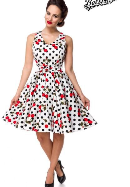 Cseresznyés retro ruha